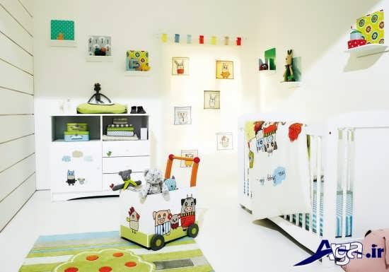 طراحی دکوراسیون های شیک اتاق نوزاد
