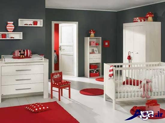 طراحی دکوراسیون مدرن اتاق نوزاد