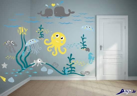 تزیین دیوار اتاق نوزاد پسر