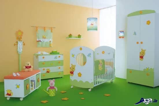 چیدمان جدید اتاق نوزاد پسر