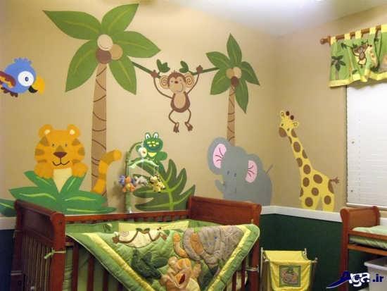 تزیین دیوار اتاق برای نوزاد پسر