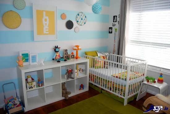 تزیین اتاق نوزاد پسر ساده و زیبا
