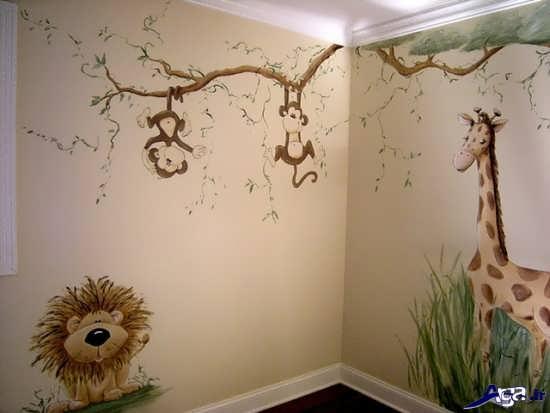 تزیین دیوارهای اتاق نوزاد پسر
