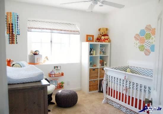 تزیین اتاق نوزاد با اسباب بازی