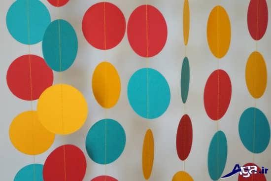 تزیین اتاق تولد با کاغذ رنگی