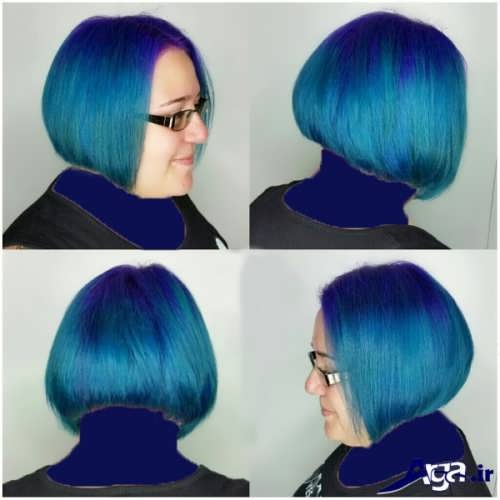 رنگ موی آبی زیبا