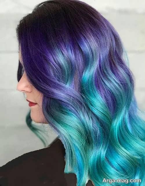 رنگ موی آبی دخترانه بسیار زیبا