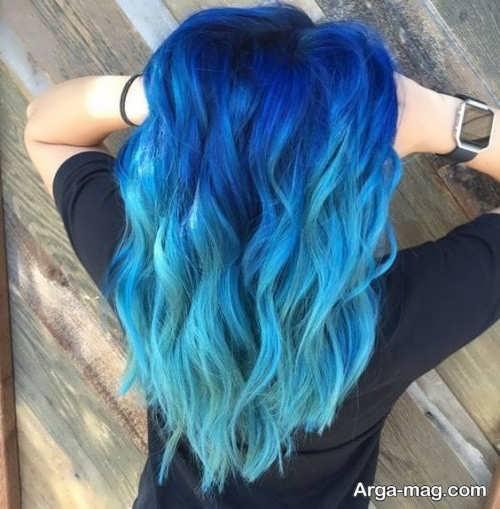 جدیدترین مدل های رنگ مو آبی