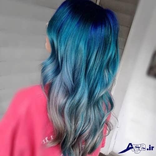 رنگ مو آبی زیبا و جذاب