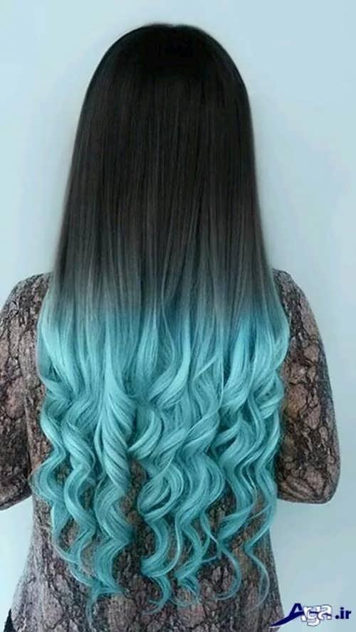 انواع رنگ موهای زیبا آبی