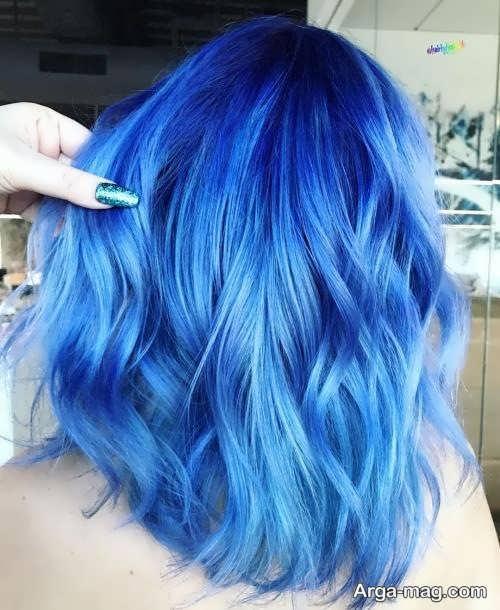 رنگ مو آبی روشن