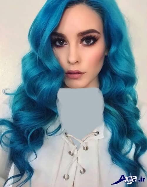 رنگ موی آبی