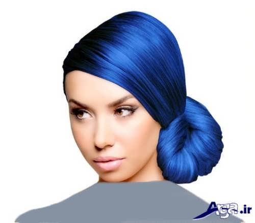 رنگ موی زیبا و فانتزی آبی دخترانه و زنانه