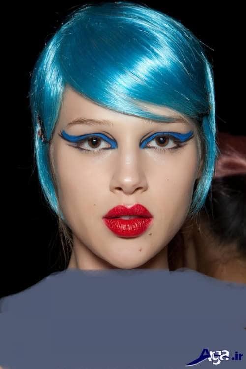 انواع فرمول های ترکیبی رنگ موی آبی