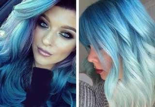 فرمول ترکیبی رنگ موی آبی + مدل های رنگ مو آبی