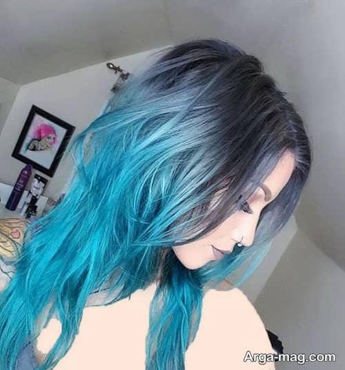 مدل های رنگ موی آبی