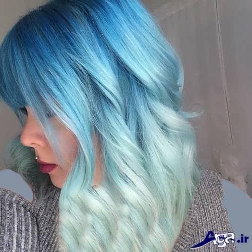 رنگ موی آبی اقیانوسی