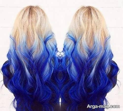 رنگ موی آبی مخصوص خانم های خوش سلیقه