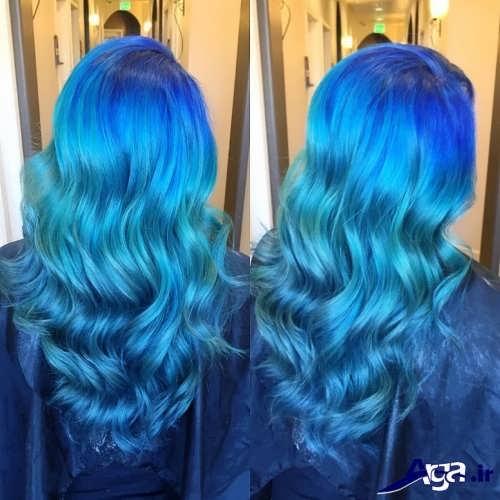 رنگ موهای آبی