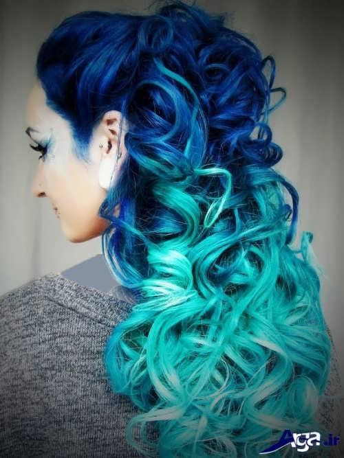 رنگ مو آبی اقیانوسی