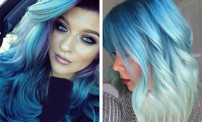 با انواع رنگ موی آبی زنانه و دخترانه آشنا شوید