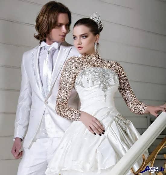 عکس دونفره عروس و داماد در آتلیه