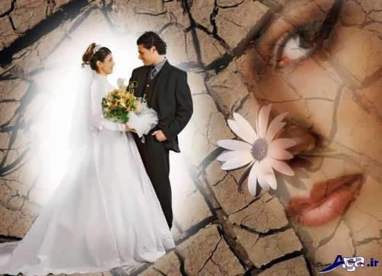 عکس آتلیه ایی عروس و داماد