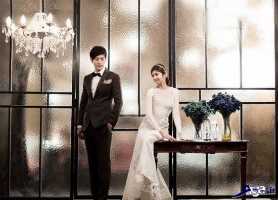 ژست عروس و داماد برای عکس دو نفره