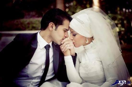 ژست عکاسی از عروس و داماد