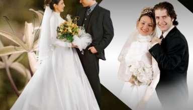 ژست عروس و داماد در آتلیه