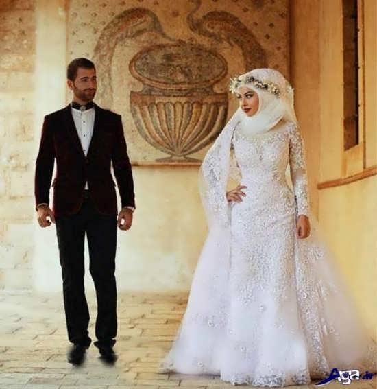 ژست عروس و داماد برای عکس آتلیه