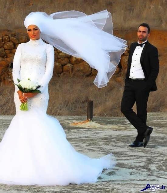 عکس آتلیه ایی از عروس و داماد