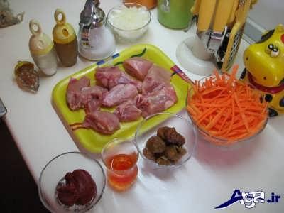 مواد لازم برای تهیه خورش هویج