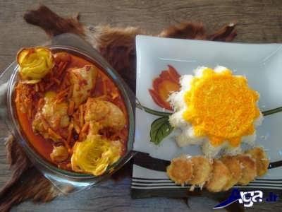 خورش هویج با مرغ