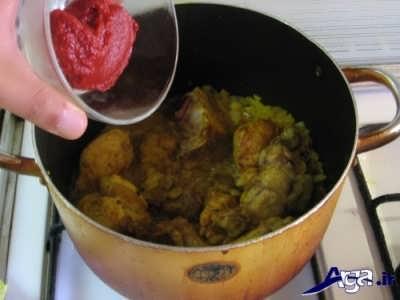 اضافه کردن رب به خورش هویج