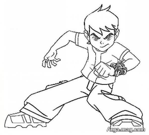 نقاشی کارتونی پسرانه