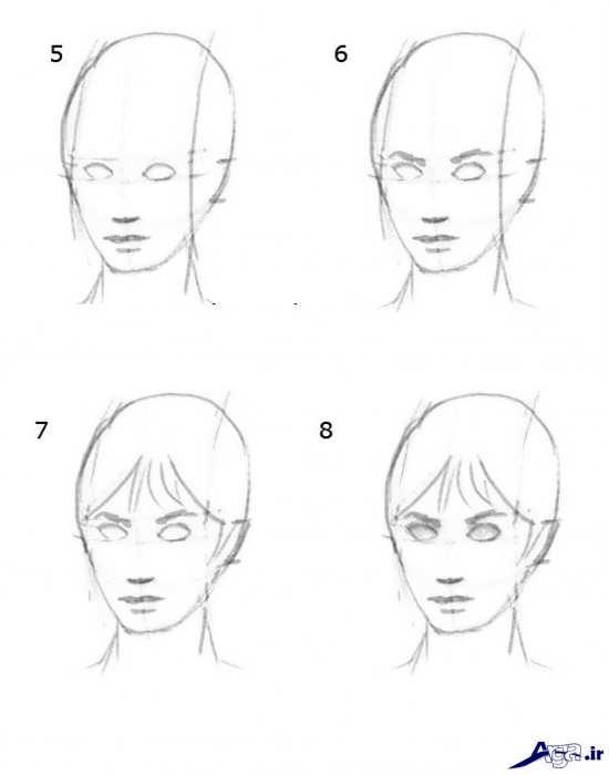 نقاشی چهره انسان با سیاه قلم