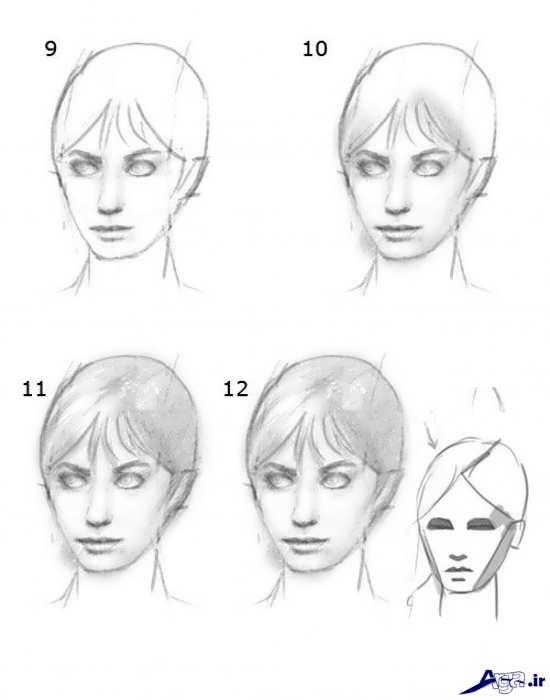 آموزش نقاشی چهره ساده