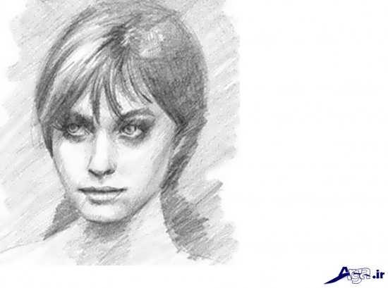نقاشی و طراحی سیاه قلم از چهره انسان