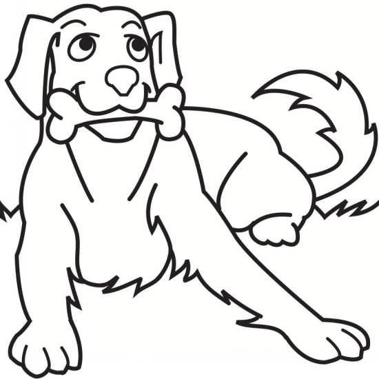 نقاشی سگ برای رنگ آمیزی کودکان
