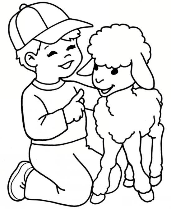 نقاشی های کودکانه حیوانات برای رنگ آمیزی کردن کودکان دختر و پسر