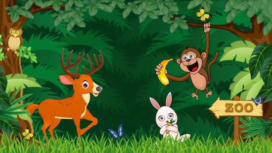رنگ آمیزی نقاشی کودکانه حیوانات