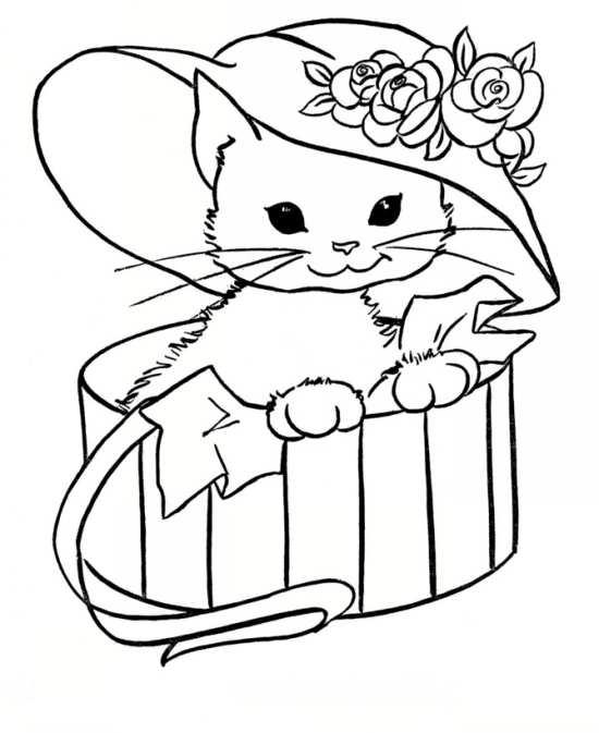 نقاشی گربه برای رنگ آمیزی