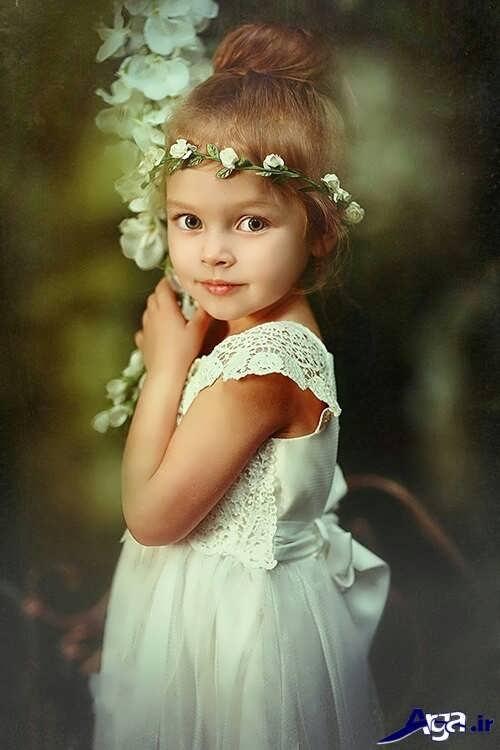 مدل زیبا برای بستن موی کودکان در خانه