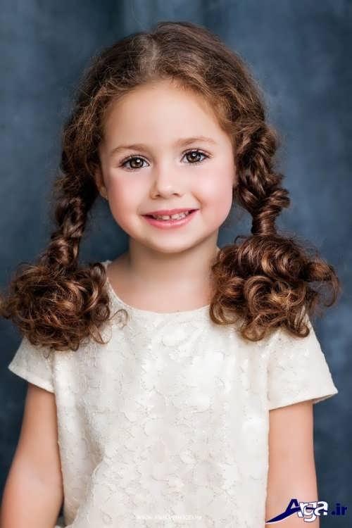 مدل بستن موی دخترانه بچه گانه