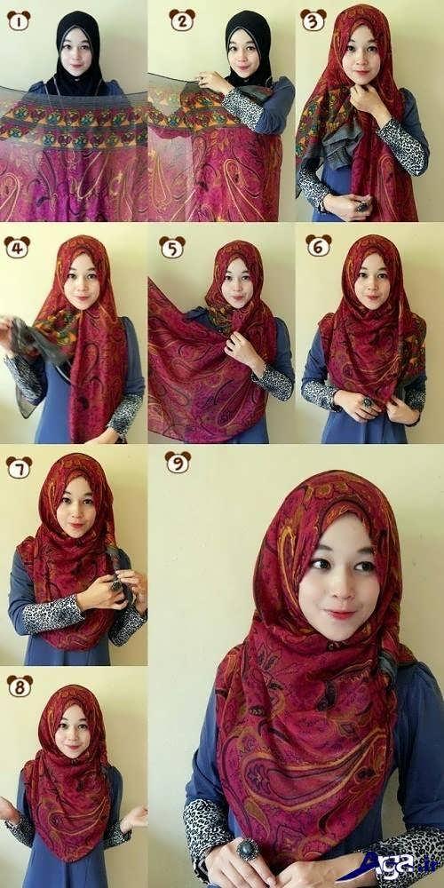 مدل بستن شال و روسری برای خانم های جذاب