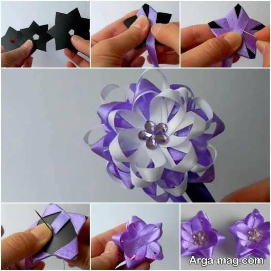ایده های جدید برای ساختن گل با روبان