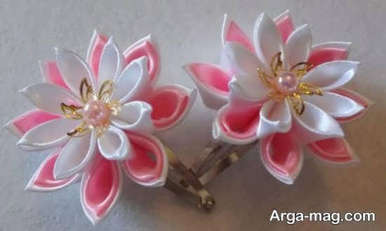 ساخت گل با روبان در مدلی قشنگ