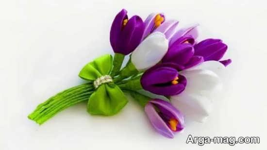 ایده های قشنگ برای ساختن گل با روبان