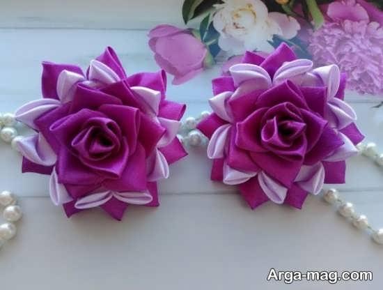 ساختن گل با روبان با طرحی متفاوت